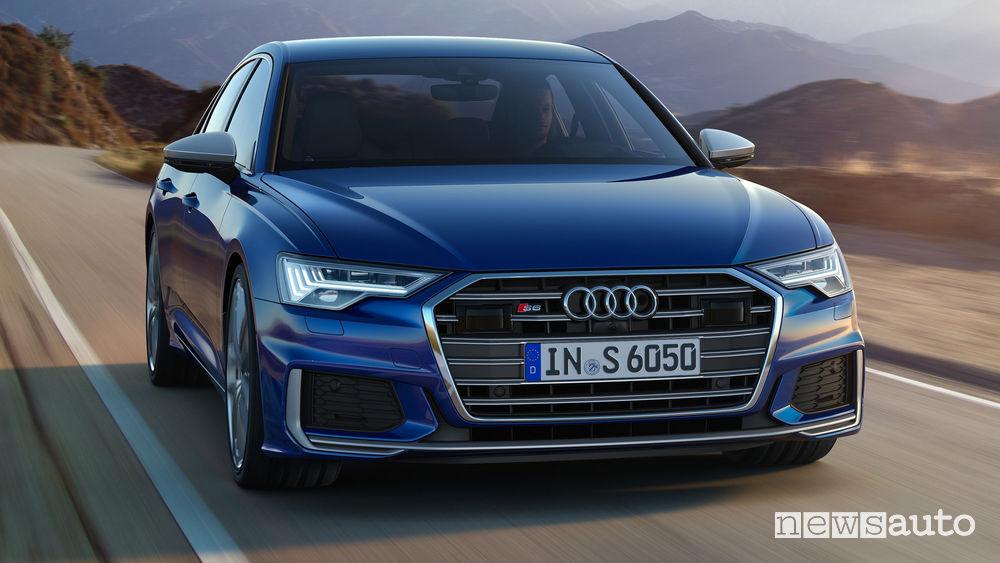 Audi S6 TDI vista frontale in movimento