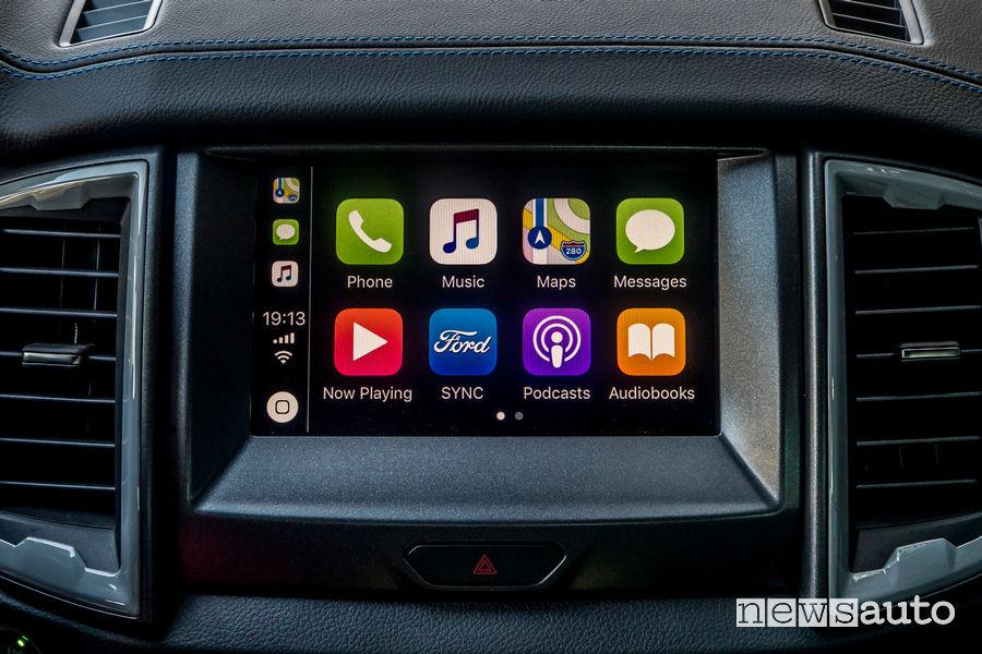 Apple CarPly Sync 3 Ford Ranger Raptor