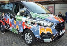 Ford Transit_2019 wrappato vista laterale