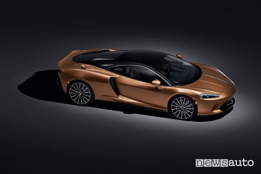 McLaren GT Gran Turismo vista dall'alto