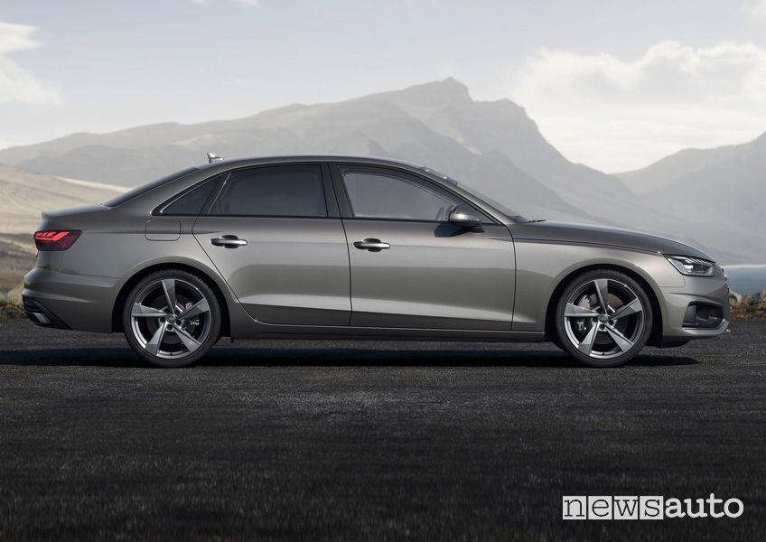 Audi A4 vista laterale