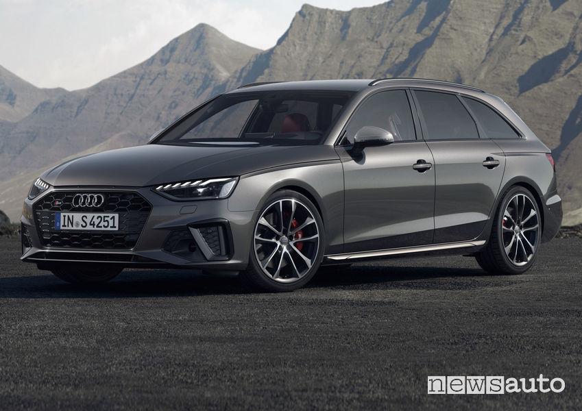 Audi S4 Avant TDI vista di profilo