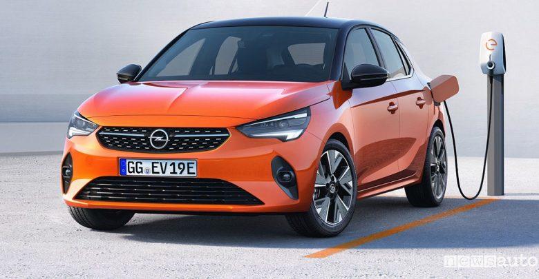 Nuova Opel Corsa-e elettrica