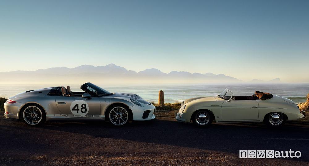 """Porsche 911 Speedster a confronto con la Roadster 356 """"Numero 1"""" del 1948"""
