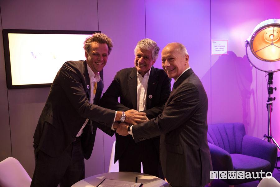 Accordo Renault con Publicis Groupe e Relaxnews, nella foto Thierry Bolloré & Maurice Levy