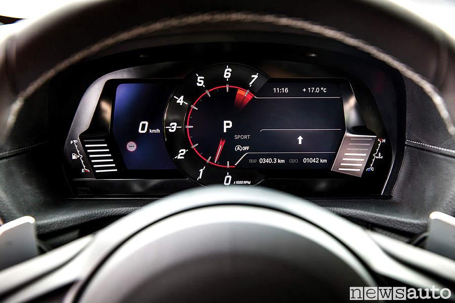 Cruiscotto digitale nuova Toyota Supra 201