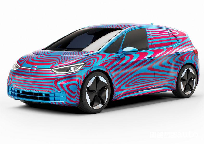 Vista di profilo Volkswagen ID.3