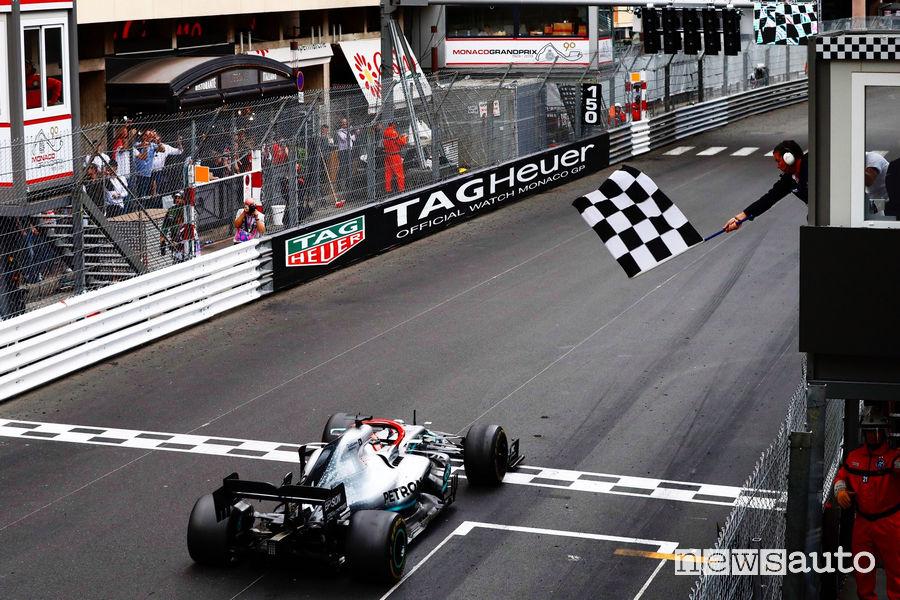 F1 Gp Monaco 2019 Mercedes-AMG Lewis Hamilton vince