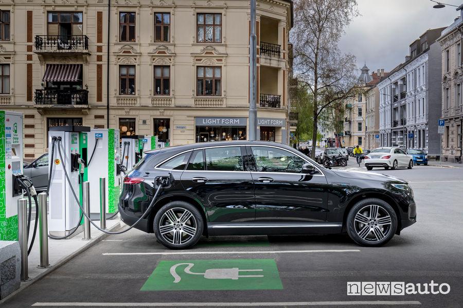 Mercedes EQC 400 4MATIC ricarica elettrica