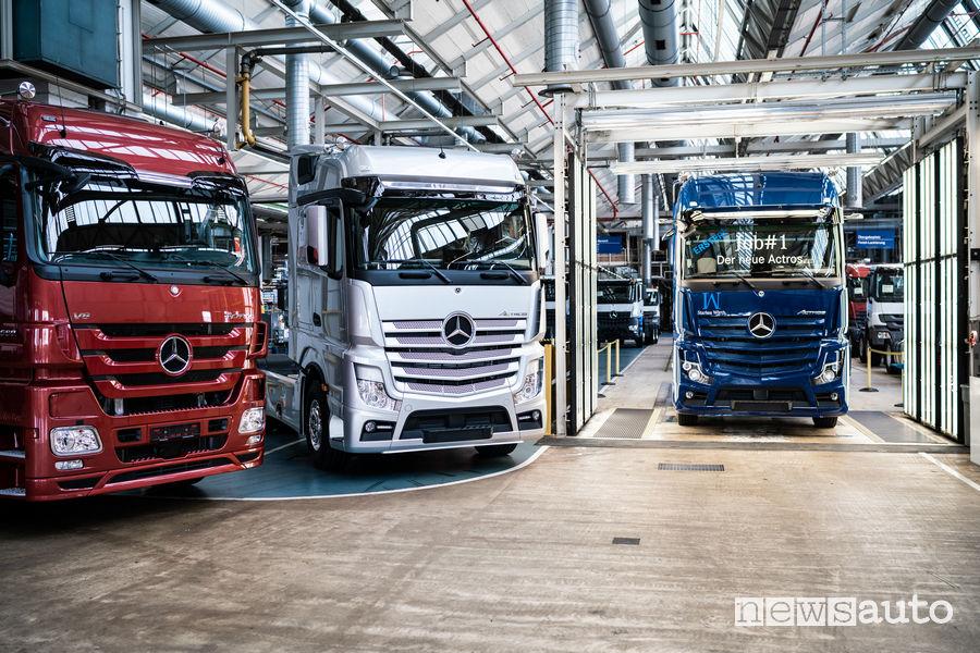 Truck Mercedes Actros nello stabilimento di Wörth