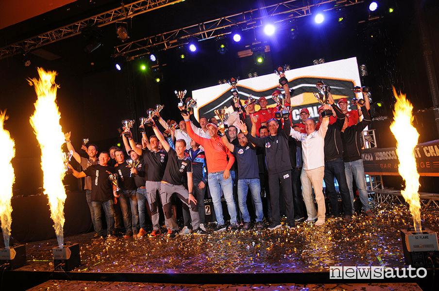 Podio finale con tutti i vincitori al Morocco Desert Challenge 2019