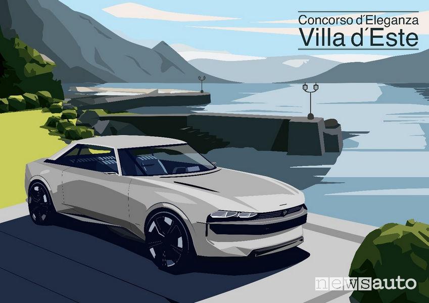 Peugeot e-Legend Concept al concorso di eleganza di Villa d'Este