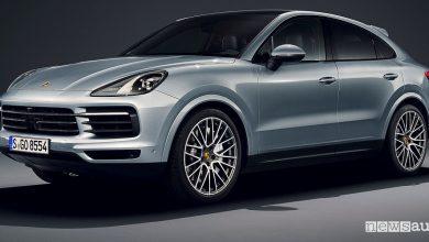 Porsche Cayenne S Coupé vista di profilo