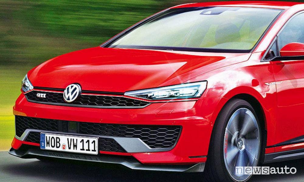 Anticipazioni frontale nuova Volkswagen Golf GTI 8 2020