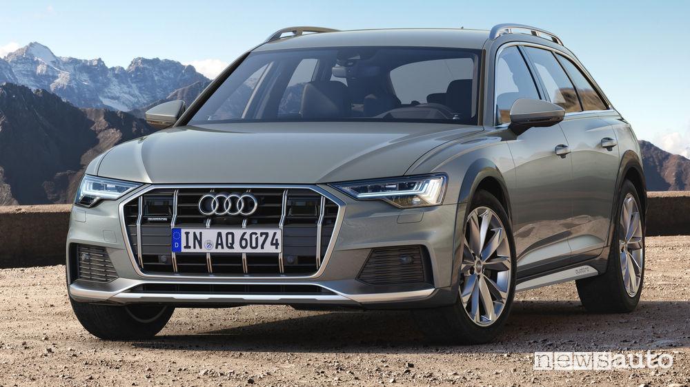 Audi A6 allroad quattro vista di profilo