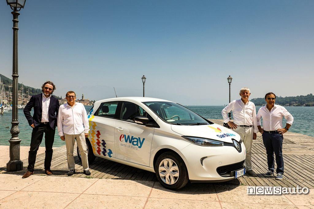 La Renault Zoe di E-Way car sharing elettrico al lago di Garda