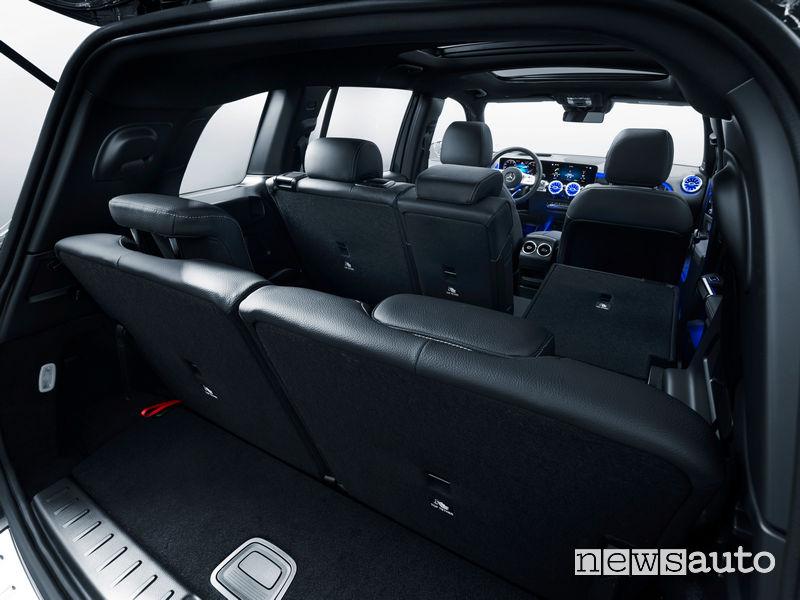 Mercedes-Benz GLB abitacolo sedili posteriori