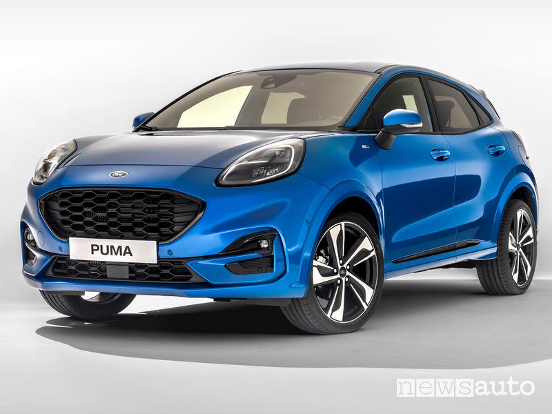 Nuova Ford Puma ST-Line vista di profilo suv crossover