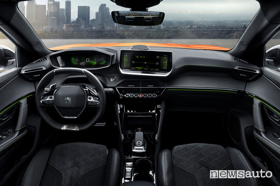 Nuova Peugeot 2008 2020 GT Line abitacolo i-Cockpit 3D