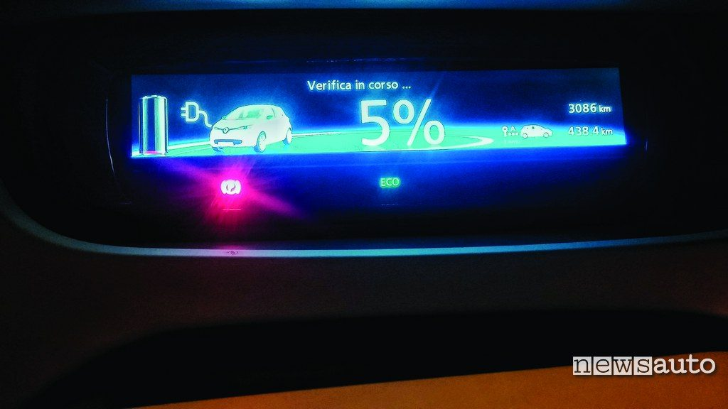 Renault Zoe display ricarica