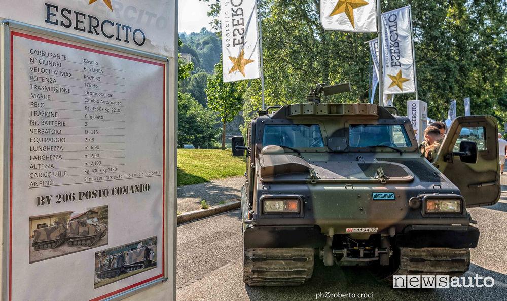 Salone Auto di Torino Parco Valentino 2019: esercito anfibio svedese articolato BV206