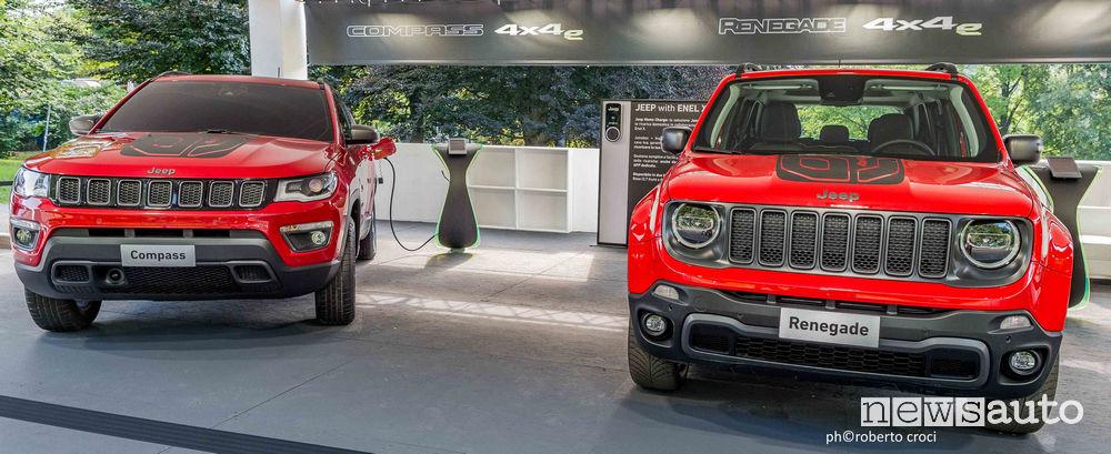 Salone Auto di Torino Parco Valentino 2019: Jeep Renegade e Compass PHEV