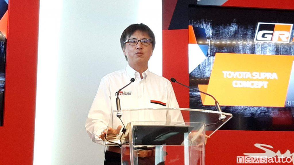 Tetsuya Tada, ingegnere capo del progetto di sviluppo  Toyota GR Supra