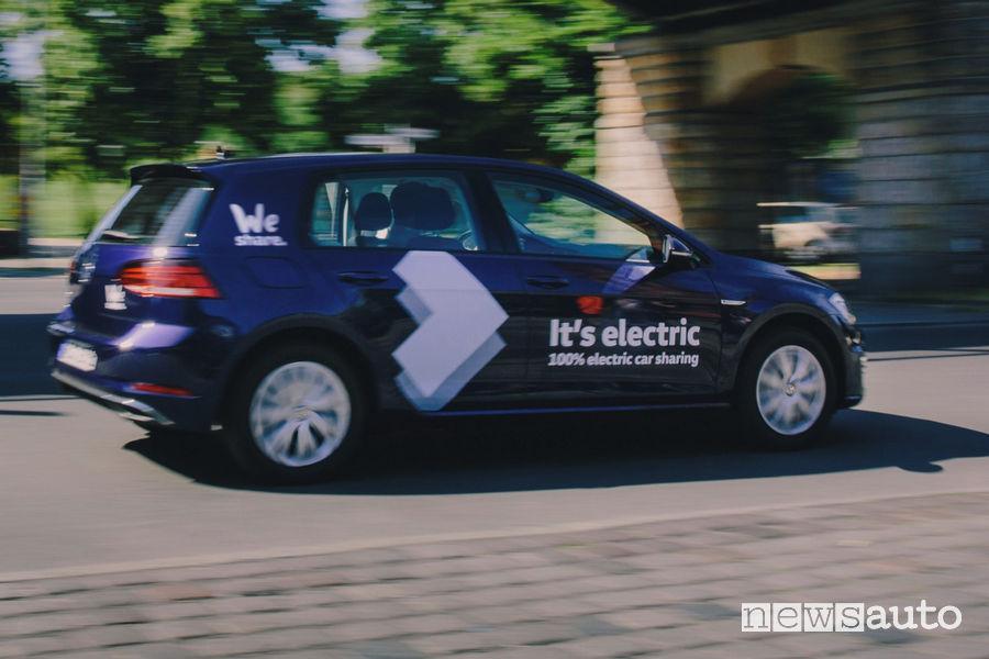 car sharing WeShare Volkswagen noleggio auto elettriche Berlino