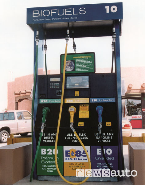 Distributore etanolo e85 carburante