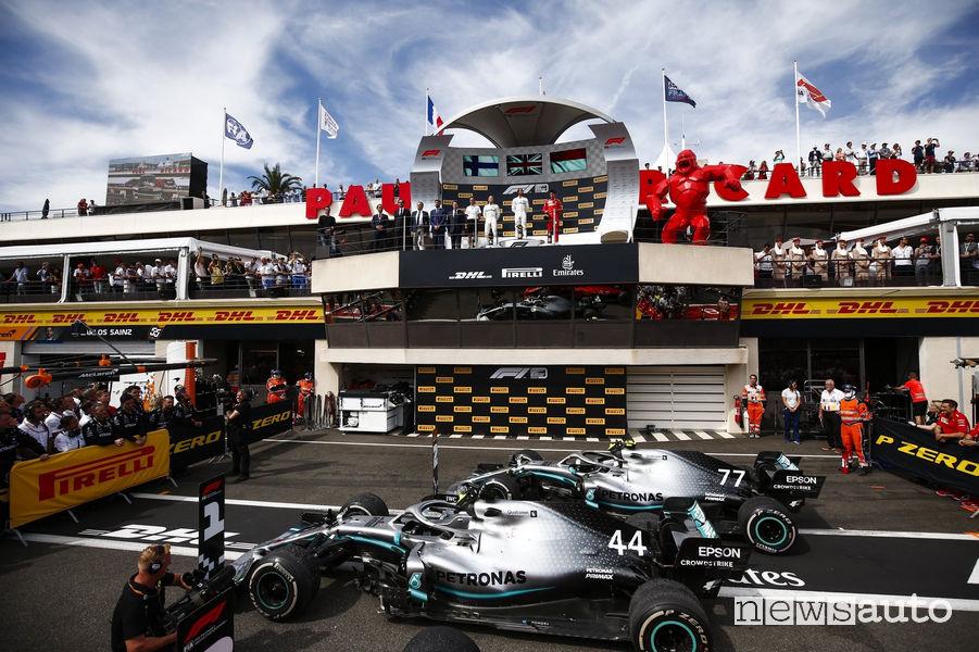 podio F1 Gp Francia 2019