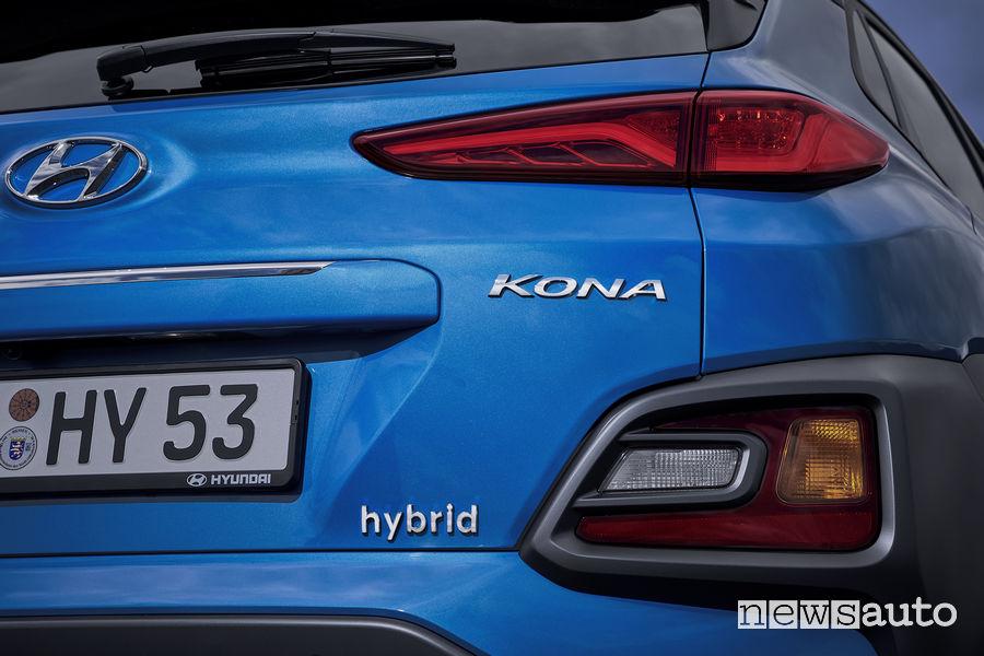 Hyundai Kona Hybrid dettagli del posteriore