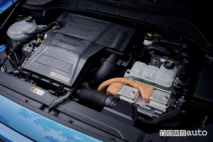 Hyundai Kona Hybrid vano motore ibrido