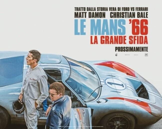 Locandina film Le Mans '66- La grande sfida guerra Ferrari-Ford