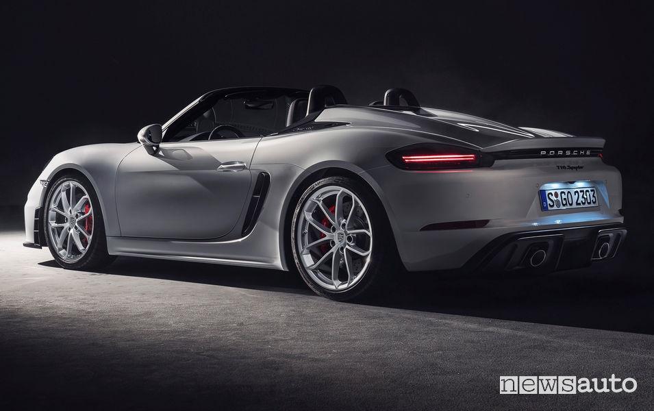 Porsche 718 Spyder vista posteriore
