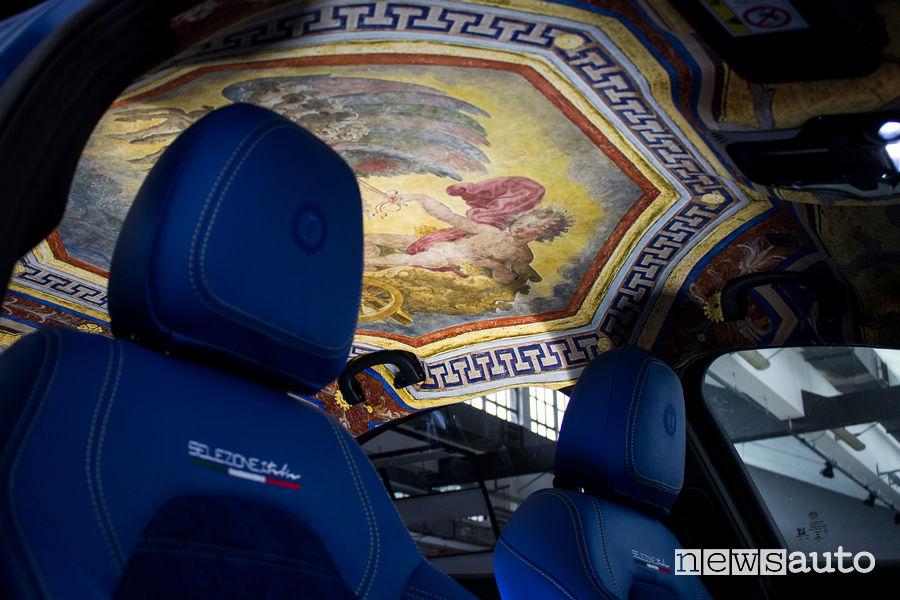 Cielo Alfa Romeo Giulia Grand Tour Garage Italia Hertz Selezione Italia affesco di Apollo circondato dallo Zodiaco