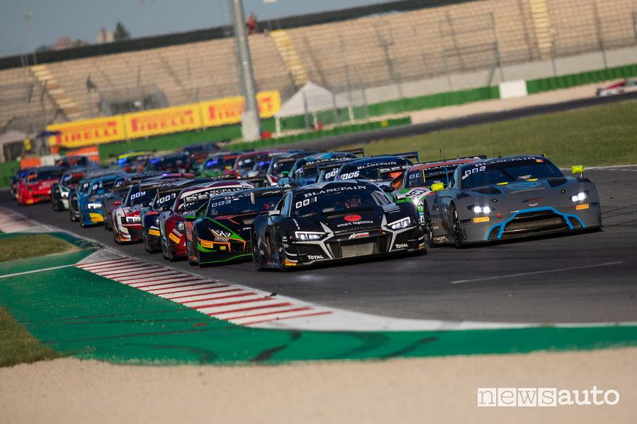 Partenza Gara 2 Blancpain GT World Challenge Misano 2019