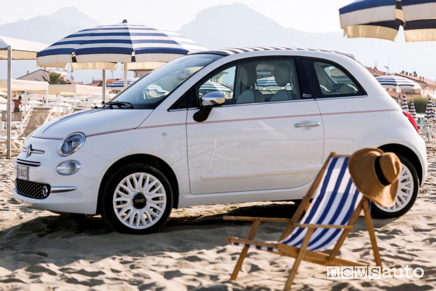 Fiat 500 Dolcevita vista di profilo