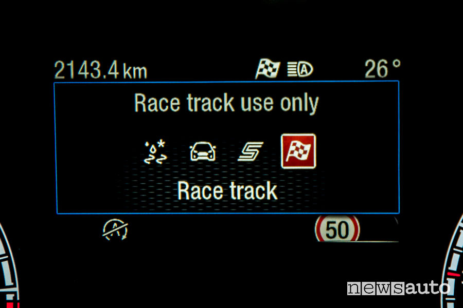 Ford Focus ST 2019 display Drive Mode