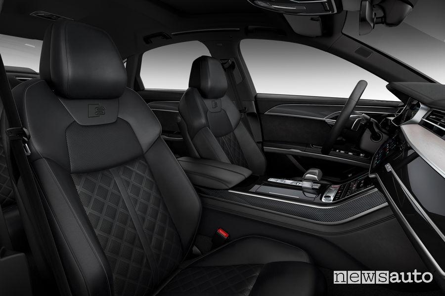 Nuova Audi S8 sedili anteriori