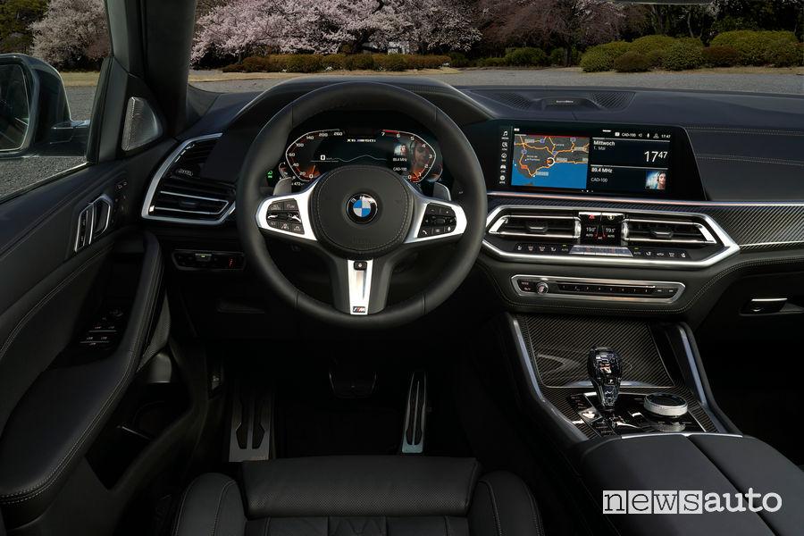 Nuova BMW X6 plancia strumenti
