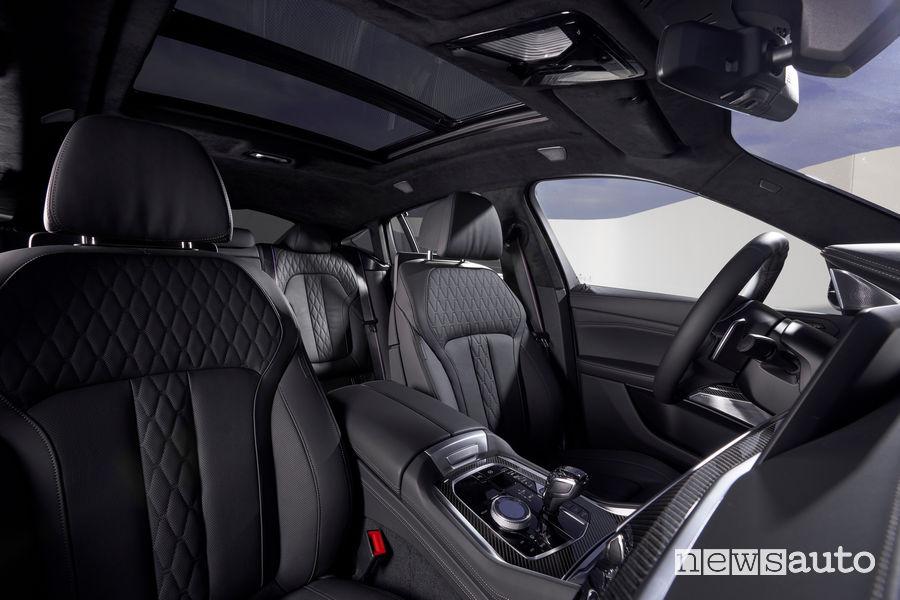 Nuova BMW X6 sedili anteriori