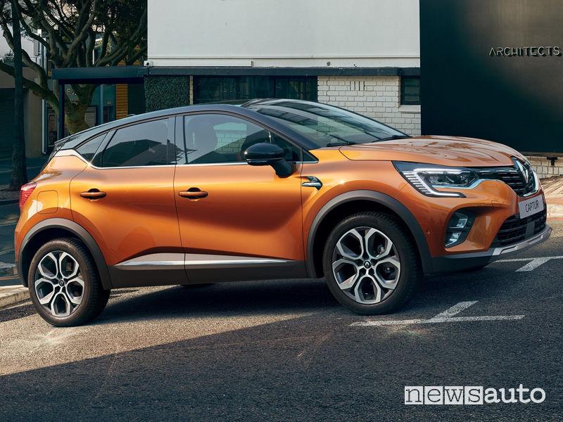 Nuovo Renault Captur 2020 vista laterale