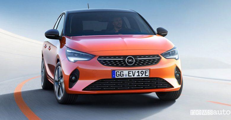 Nuova Opel Corsa 2020 elettrica