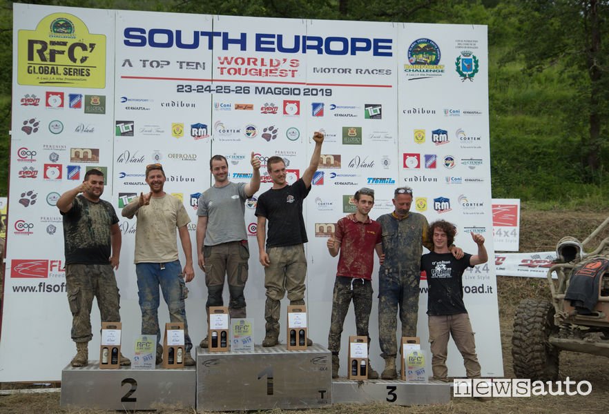 Rainforest South Europe 2019 podio categoria Proto