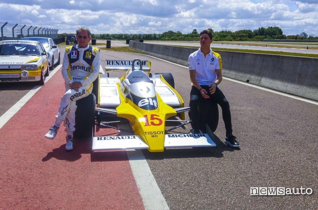 Renault F1 RS10 con Jabuille e figlio