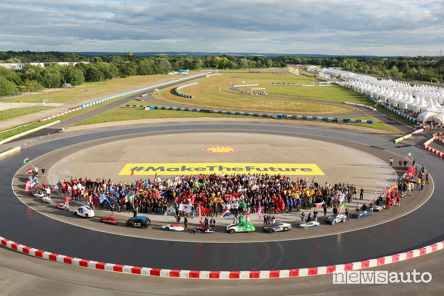 circuito del Mercedes Benz World di Londra Shell Eco-marathon 2019