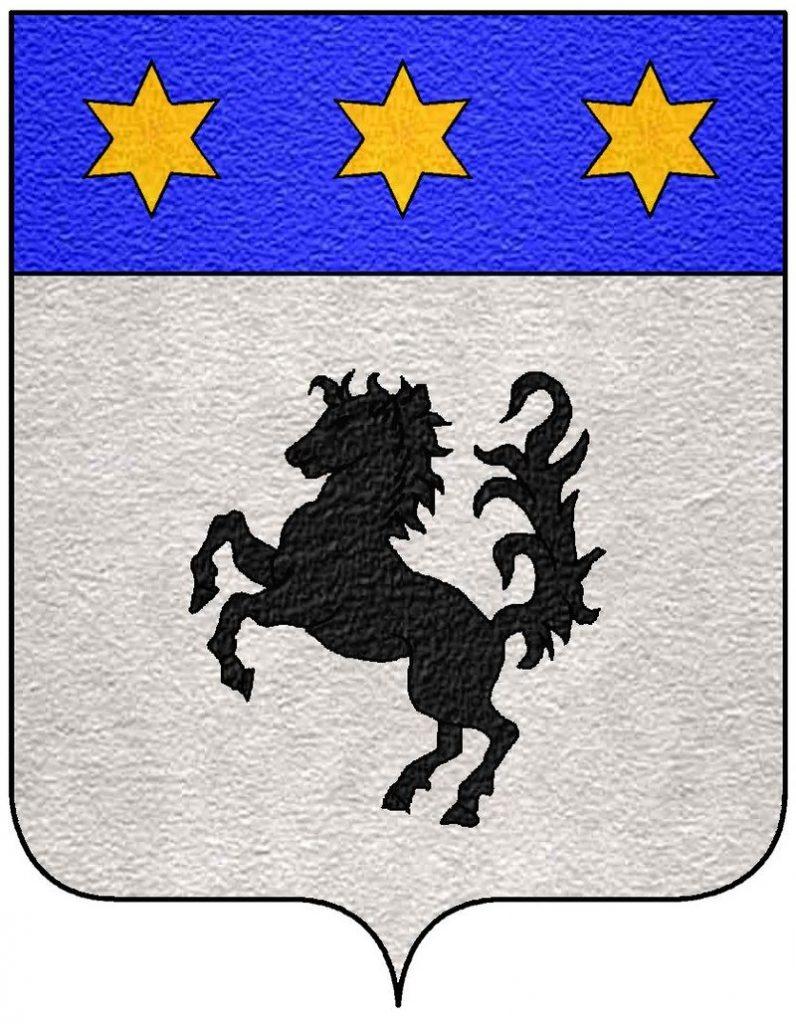 Stemma araldico della famiglia Baracca con logo del Cavallino Rampante