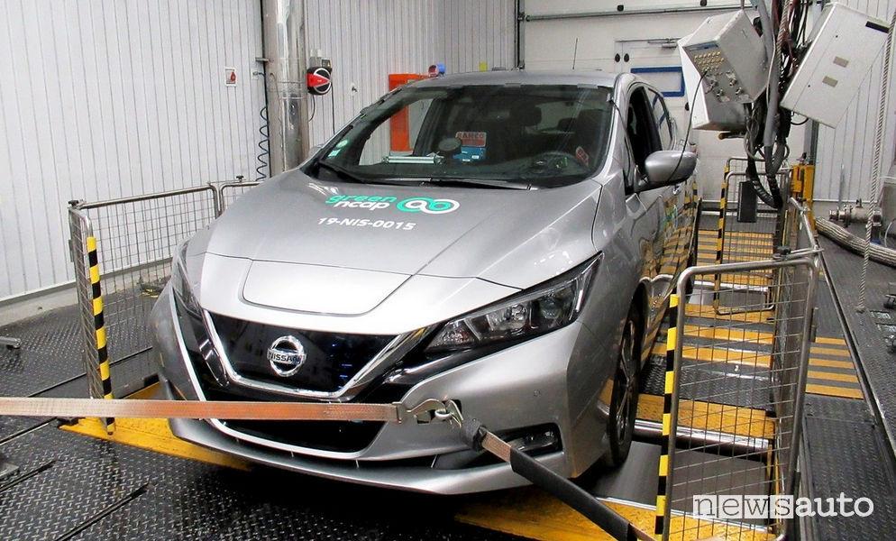 Test Green NCAP Nissan Leaf 40 kWh elettrica