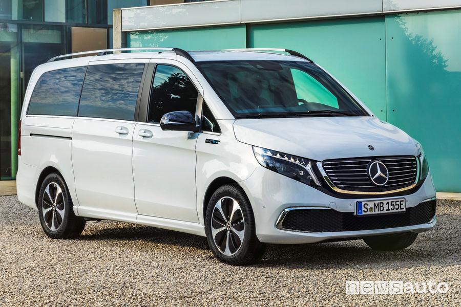 Mercedes-Benz EQV cerchi e paraurti anteriori