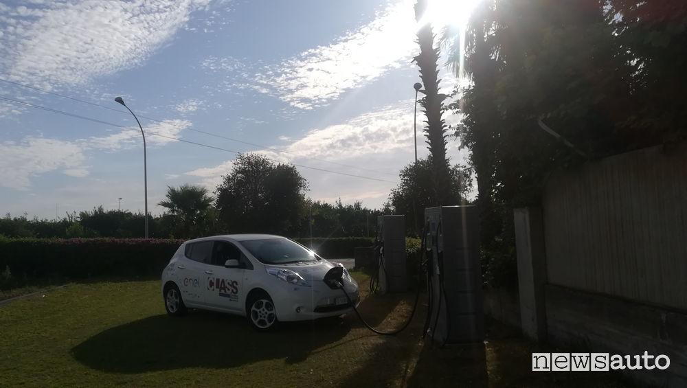 Nissan Leaf ricarica Enel X a Catania